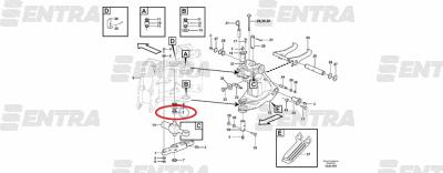 11883757 втулка крепления г/ц поворота стрелы снизу Volvo