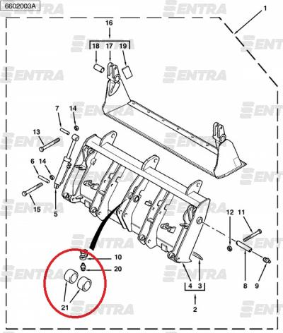 3520033M1 втулка соединения ковша с тягами передней стрелы Terex