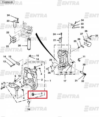 3521388M5 втулка поворотной каретки нижняя Terex