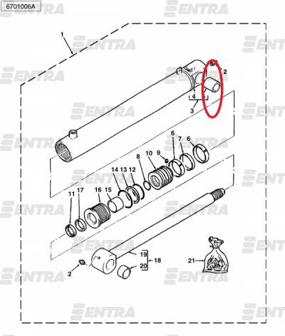 3623322M1 втулка крепления основания г/ц подъема передней стрелы Terex