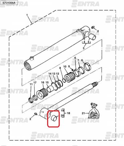 3623323M1 втулка крепления штока г/ц подъема передней стрелы Terex