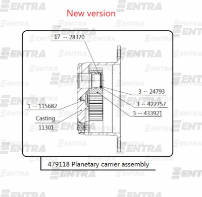 479118 (66750) бортовой редуктор