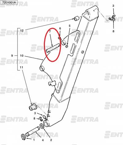 6102877M2 палец гидроцилиндра задней стрелы, г/ц рукояти Terex