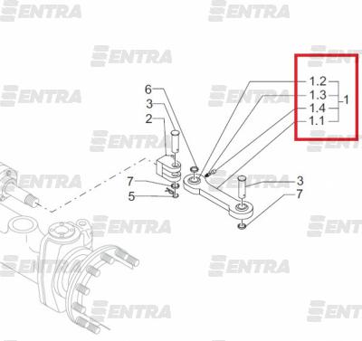 858113 (829539) рулевая тяга KOMATSU
