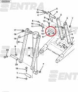 3520465M5 палец крепления тяг ковша к передней стреле Terex